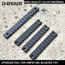 Game Upgrade Material Rail Guide For UMP45 JinMing 8th Gel Ball Water Bomb Toy Gun Blaster Toys Modified Accessories gel water bomb gun electric water gun for jinming scar shell toy parts intelligence assembled suite