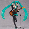 14cm Japanese Anime Singer Hatsune Miku Guitar Figma PVC Action Figure Collectible Brinquedos Kids Teenagers Toys Gifts RT200