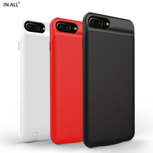 In All 3300 mAh Smart Battery Case For Apple iPhone 8 Plus 7 Plus Charger Cover For iPhone 6s Plus Capa Carregador Power Funda