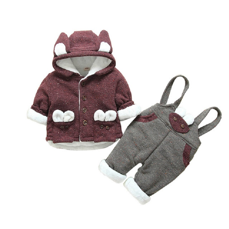 Winter Baby Thickening Warm Set New Fashion Boys Girls Lovely Comfortable Suit Sweater+Pant Two-piece Casual Kids Sport Suit men s spring fashion casual sport print hood sweatshirts trousers two piece suit