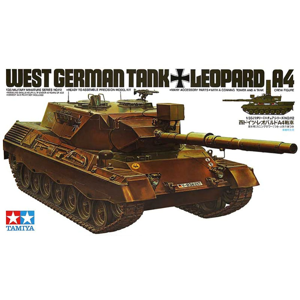 OHS Tamiya 35112 1/35 West German Tank Leopard A4 Military Assembly AFV Model Building Kits oh ohs meng ts007 1 35 german main battle tank leopard 1 a3 a4 afv model building kits
