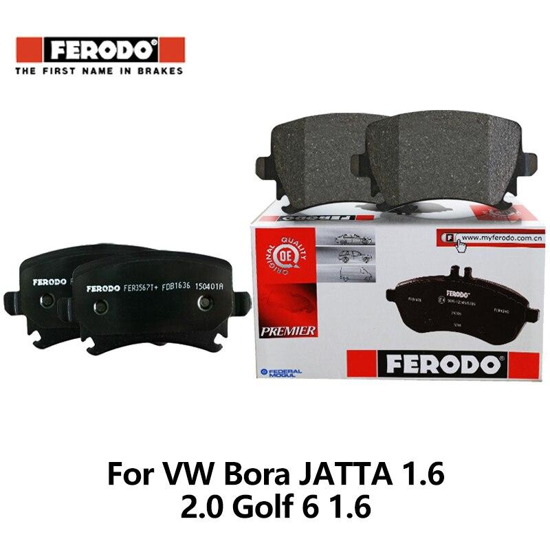 4pcs/lot Ferodo Front Car Brake Pads For VW Bora Jetta 1.6 2.0 Lavida 1.6L Golf 6 1.6 Skoda Octavia 2 hatchback FDB1635-D колодки ferodo 2 4