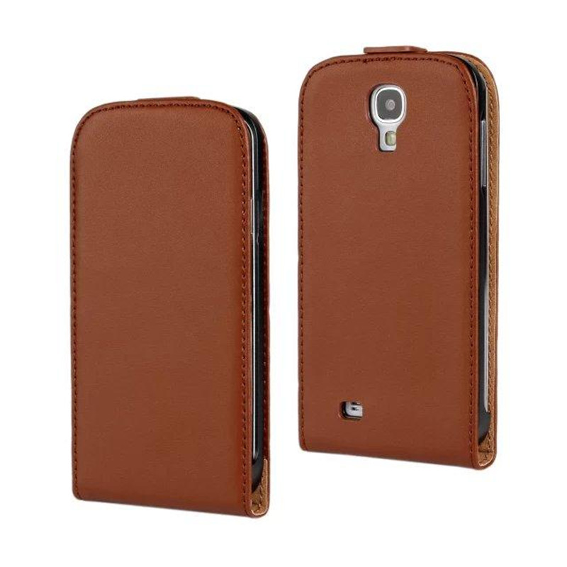 Ultrathin Luxury Genuine Leather <font><b>Case</b></font> Magnetic Buckle Vertical <font><b>Flip</b></font> Bag Cover Mobilephone Back Cover For <font><b>Samsung</b></font> Galaxy <font><b>S4</b></font> I9500 image