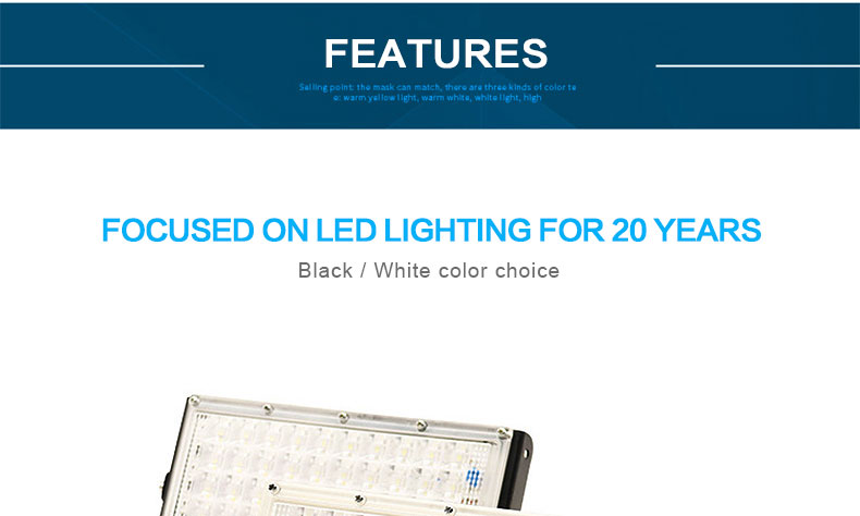 ar livre refletor holofote 50 w lâmpada