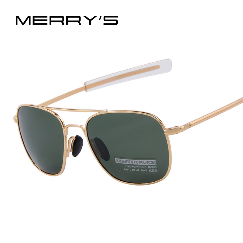 2018 New Army MILITARY AO Solglasögon American Alloy Frame Quality Polarized Solglasögon