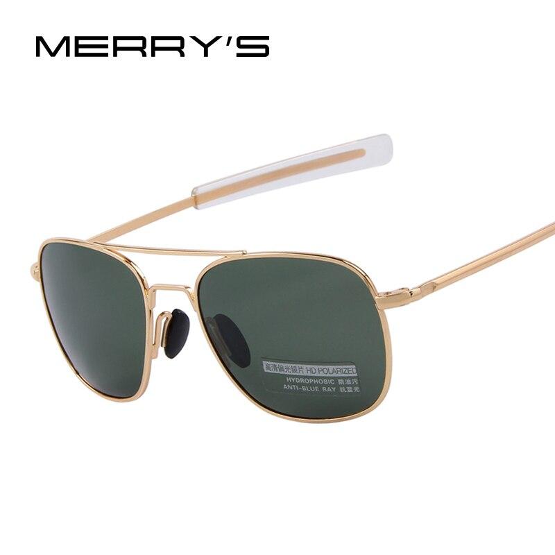 2018 Novo Exército MILITAR AO Óculos De Sol Frame Da Liga Americana Qualidade Polarizada óculos de Sol