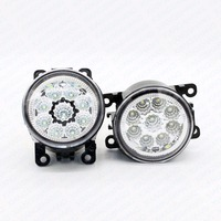 2pcs Car Styling Round Front Bumper LED Fog Lights DRL Daytime Running Driving For FORD Fiesta