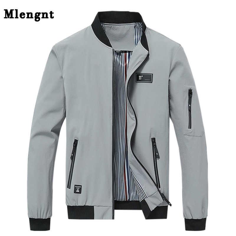 Spring 4xl College Streetwear Thin Homme Jacket Men Casual Solid Zipper Windbreakers Summer Fashion Bomber Overcoat 2019 Xmr09 Jackets Aliexpress