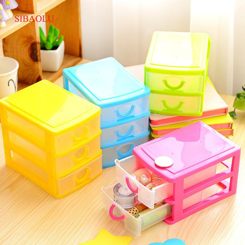Practical Detachable DIY Desktop Storage Box Transparent Plastic Storage Box Jewelry Org ...