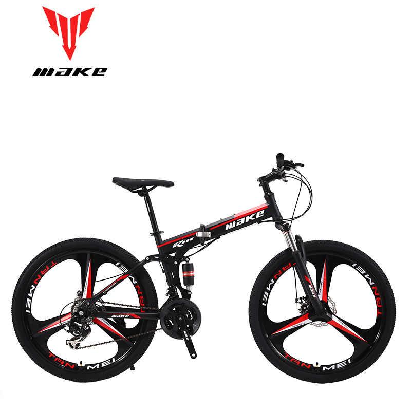 جعل الصلب fouldable الإطار ، دراجة هوائية جبلية 26 سبيكة عجلة ، 24 السرعة SHIMANO MTB
