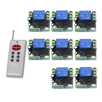 MITI DC 12V small remote control switch one transmitter with 8 receivers 315mhz 10a 1ch relay switch SKU: 5460