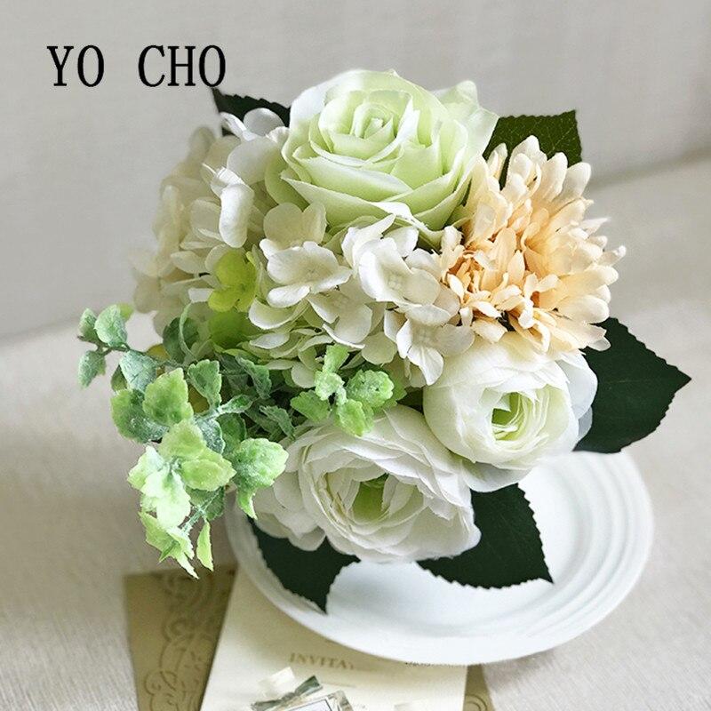 YO CHO Peony Wedding Flowers Bridal Bouquet Hand Flower Party ...