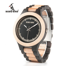 BOBO BIRD E/O01 Red Sandalwood Unique Analog Watch Men's Top Brand Luxury Wristwatch Lightweight With Wood Box
