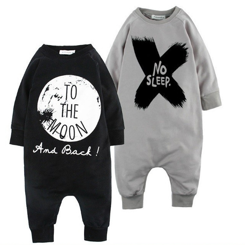 Fashion Baby Clothes Boys Kids Romper Children Onepieces Cotton Baby Letter Rompers Long Sleeve Spring Baby Boys Clothing