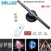 85 265V 42cm/16.54 Wifi 320 LEDs 3D Hologram Projector Hologram Player LED Display Fan Advertising Light APP Control
