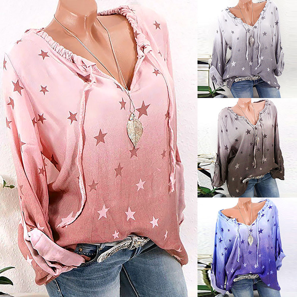 Women's Clothing Cheap Sale Women Blouse Shirts Lace-up Solid Color Ladies Shirt Short Sleeve Loose V Neck Tunic Tops Plus Size S-5xl Camisas Femininas#gh
