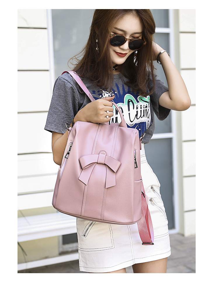 HTB1wrI9bLc3T1VjSZPfq6AWHXXaT - Leisure Women Backpack High Quality Leather Lady Anti Theft Shoulder Bags Lovely Girls School Bags Women Traveling Backpack