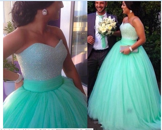 Verde da hortelã Vestidos Quinceanera Lantejoulas Frisado Querida Corpete Espartilho Vestido do Baile de Hortelã 2016 Sparkly Vestido de Concurso