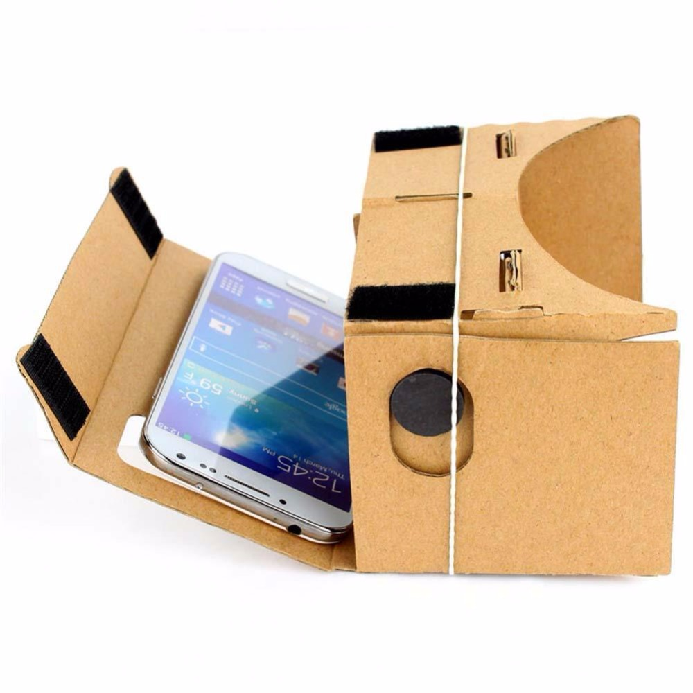 """Hot Sale <font><b>DIY</b></font> Magnet <font><b>Google</b></font> <font><b>Cardboard</b></font> <font><b>Virtual</b></font> <font><b>Reality</b></font> VR <font><b>Mobile</b></font> <font><b>Phone</b></font> 3D Viewing Glasses For 5.0"""" Screen <font><b>Google</b></font> VR 3D Glasses"""