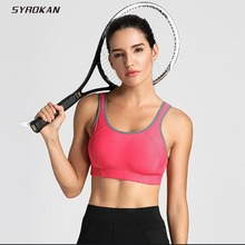 SYROKAN Women s Full Coverage High Impact Lightly Padded Wireless Sports Bra