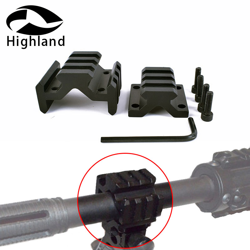Hunting Bipod Rifle Scope Barrel Mounting Accessory Mount  Rifles Picatinny Rail 3 Slot 4 Quad Rails