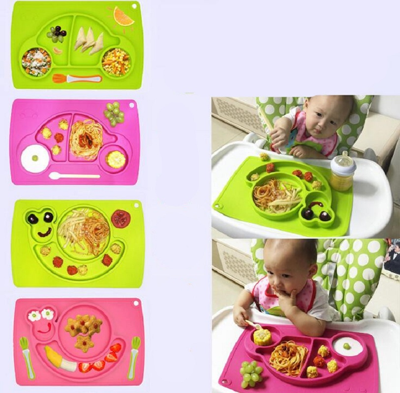 Купить с кэшбэком Baby Placemat Plate/Tray Suction patterns Silicone Placemats for kids 38*25cm Placemat for restaurant easy to clean silicone mat