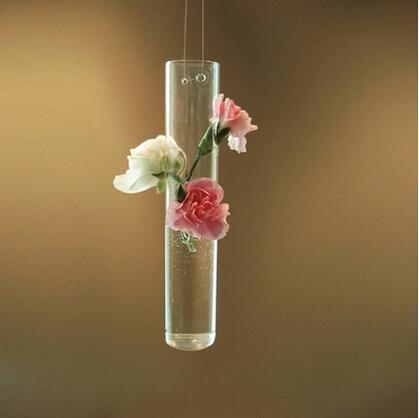 ou shi largo tubo que cuelga el florero de cristal hidropnico florero decoracin del hogar