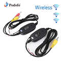 Podofo 2.4 GHz Wireless Car Rear View Camera RCA Video Transmitter & Receiver Kit for Car Rearview Camera Monitor Receiver Cam