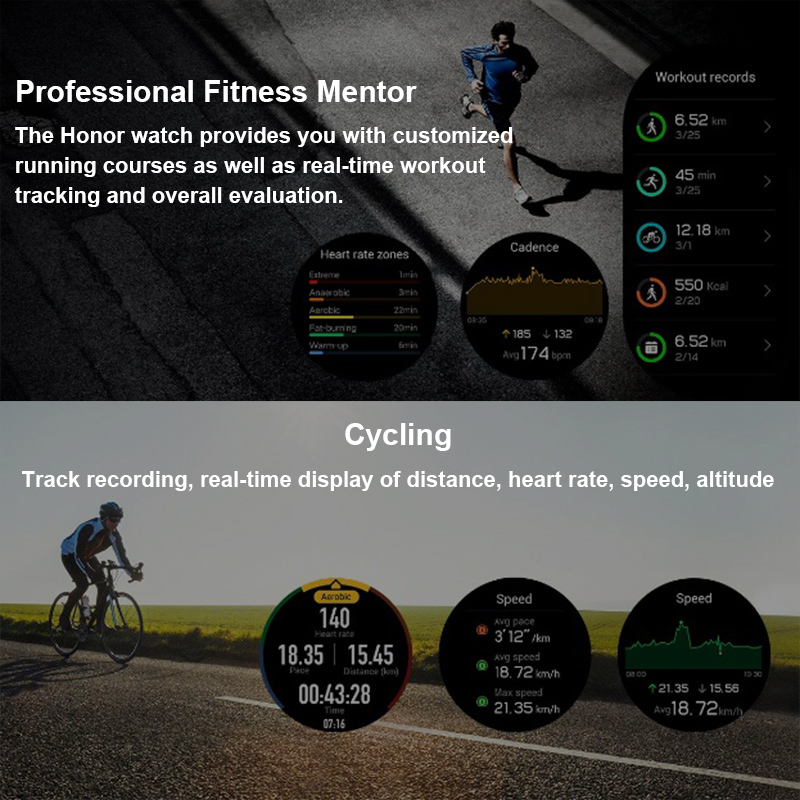 Image 5 - Honor Watch Magic SmartWatche Man Watch Heart Rate Sleep Pressure Monitoring Waterproof NFC Wearable Devices (Magic)-in Smart Watches from Consumer Electronics