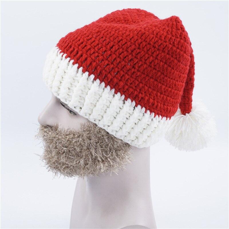 Invierno ganchillo grueso Navidad Vogue punto Papá Noel Beanie ...