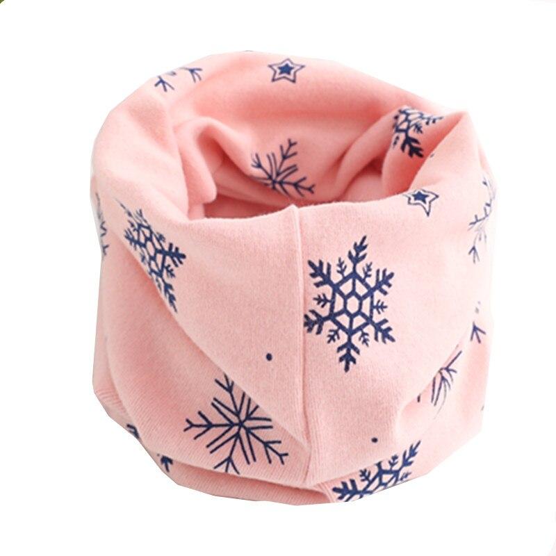 Осенне-зимний детский хлопковый шарф для девочек и мальчиков теплые шарфы Детский круглый кольцевой ошейник Детский шарф детский волшебный шейный платок - Цвет: pink snow
