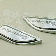 1999- для Suzuki Hayabusa новые хромированные накладки на бак боковые крышки с гравировкой логотипа