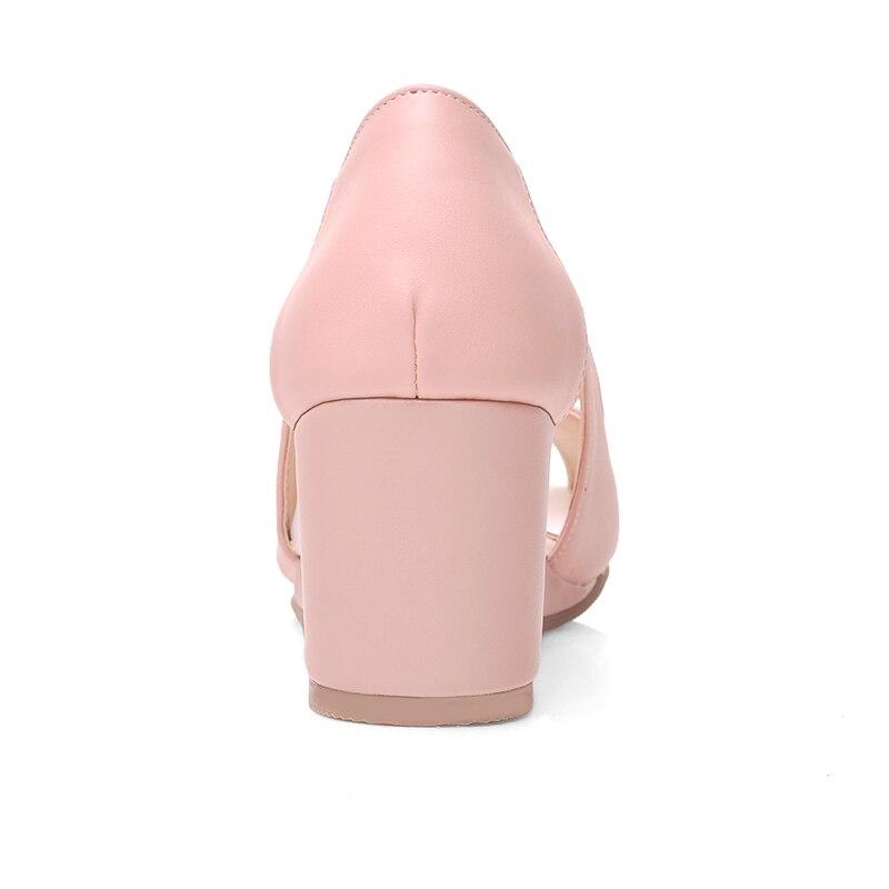 Gros Grande Lady Sarairis pourpre Pompes Office rose 43 Femme 2019 Coins Talons Beige Peep En Chaussures Doux D'été 32 Toe Taille Femmes rdBexoWC