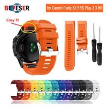 26 22 20MM Watchband for Garmin Fenix 5X 5 5S Plus 3 3 HR Forerunner 935 Watch Quick Release Silicone Easy fit Wrist Band Strap все цены