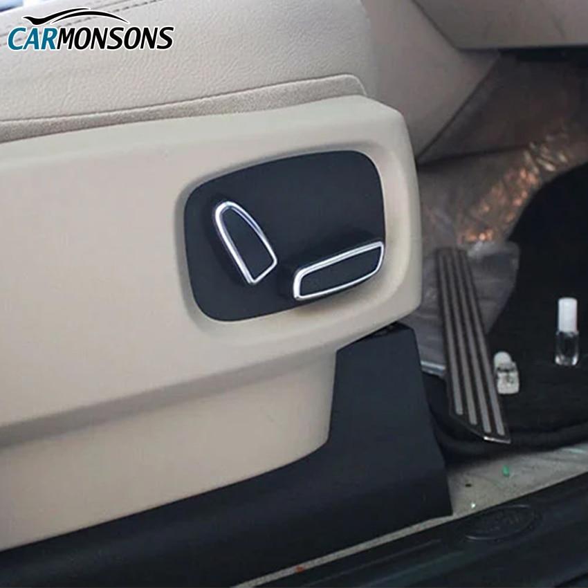 Carmonsons 시트 버튼 조정 ABS 크롬 트림 액세서리 랜드 - 자동차 인테리어 용 액세서리 - 사진 6