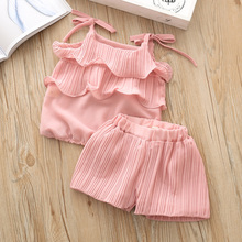 Kids Baby Girls Clothes Sets Chiffon Clothing 3Y