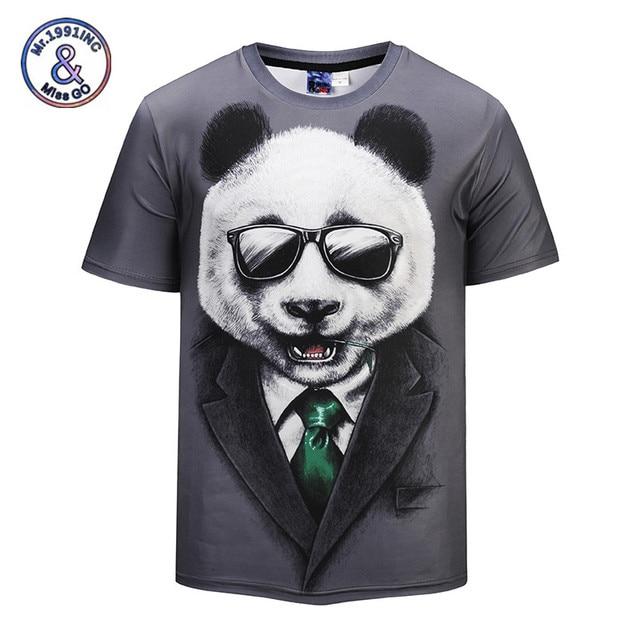 5de3294a8b42 Mr.1991INC 2018 New 3D T shirt Funny Print Cool Panda 3d Summer T-shirt  Streetwear Tees Shirt Tops