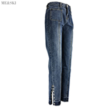 ME&SKI Jeans women High waist jeans mom skinny woman Ankle-length Pants Pencil Denim Casual Fashion jean femme blue