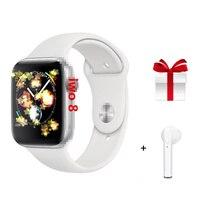 Iwo8 + fone de ouvido/conjunto smartwatch mtk2502 44mm caso relógio série 4 smartwatch apoio sms sincroniza vs iwo 5 6|Relógios inteligentes| |  -