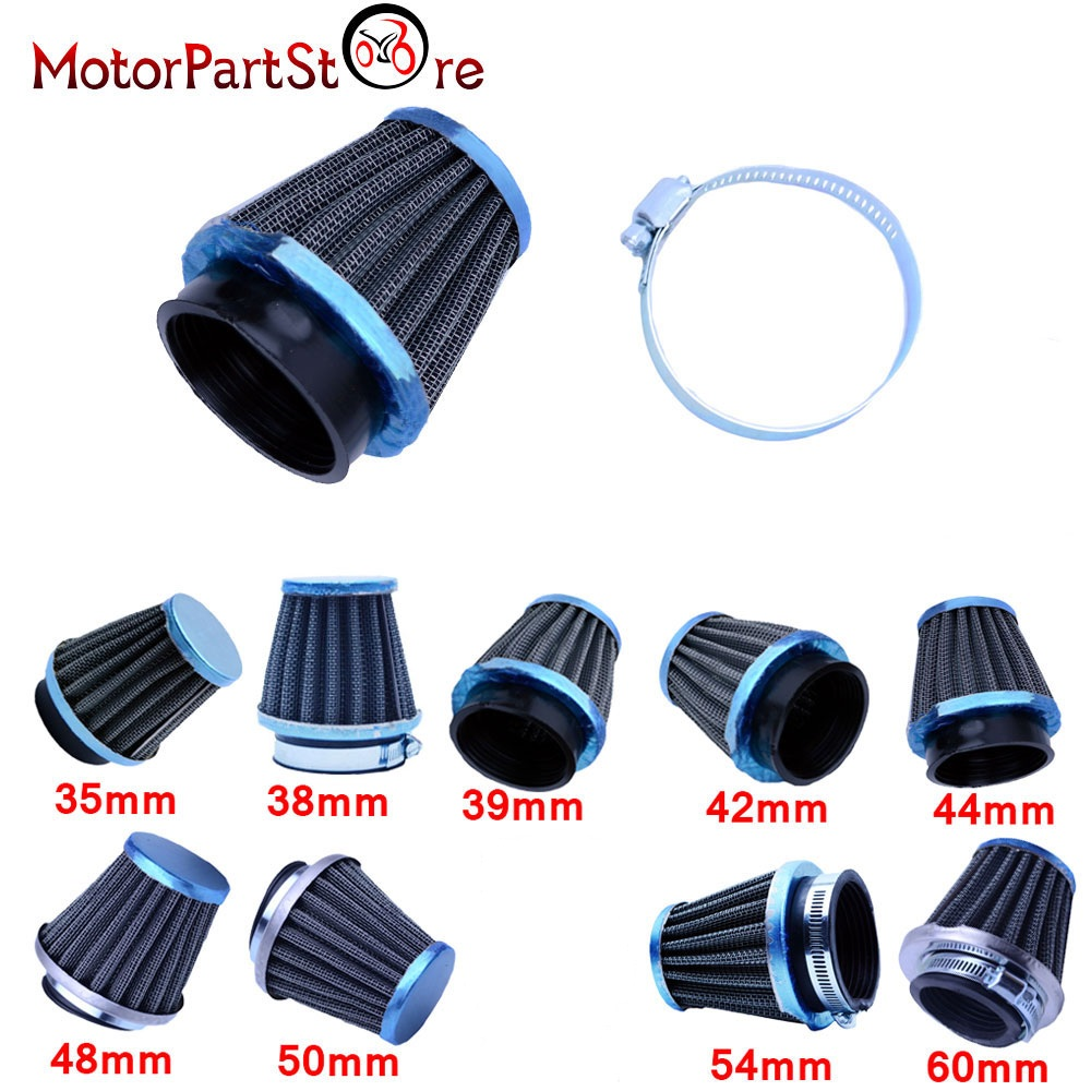 Universal 35/38/39/42/44/48/50/54/60mm Motorcycle Mushroom Head Air Filter Clamp On Air Filter Cleaner In Air Filter&Systems