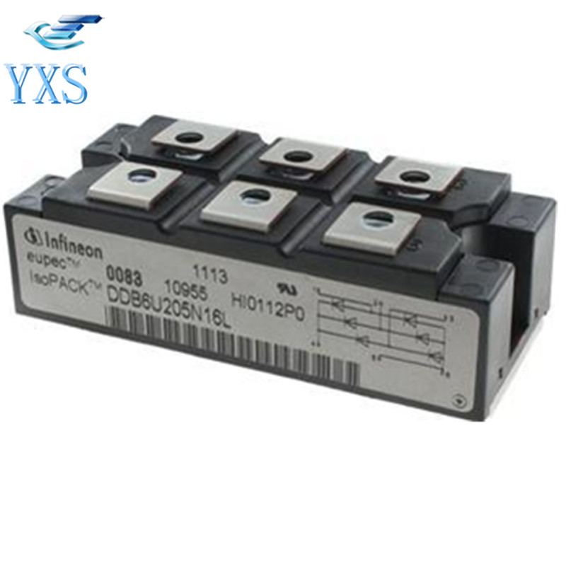 DDB6U205N12L Three Phase Rectifier Bridge 200A 1200V factory direct brand new mds200a1600v mds200 16 three phase bridge rectifier modules