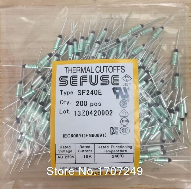 5x //Lot NEC SF240E SEFUSE Cutoffs Thermal Fuse 240°C Celsius 10A 250V Protector