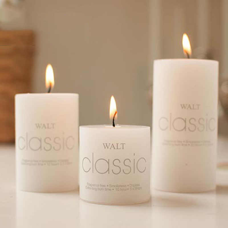 1PC Scented Candles Craft Gifts Party Wedding Home Column Wax Fragrant Candle Decorative B