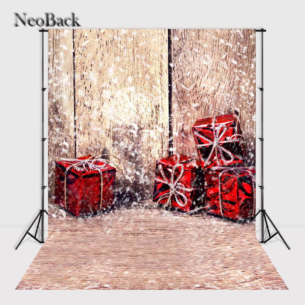 NeoBack New 5X7ft  baby Christmas gift box backdrops  Printed vinyl photography backgrounds photo studio A1069