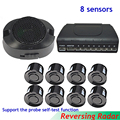 Car Auto Parktronics 8 Parking Sensor With 8 Sensors Reverse Backup Car Parking Radar Detector System Sound Alarm 4 front 4 back