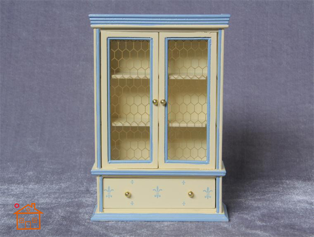 1/12 Escala de Muebles Dollhouse Miniatura De Madera Vitrina Estantería Armario Accesorios de casa de Muñecas para Los Niños