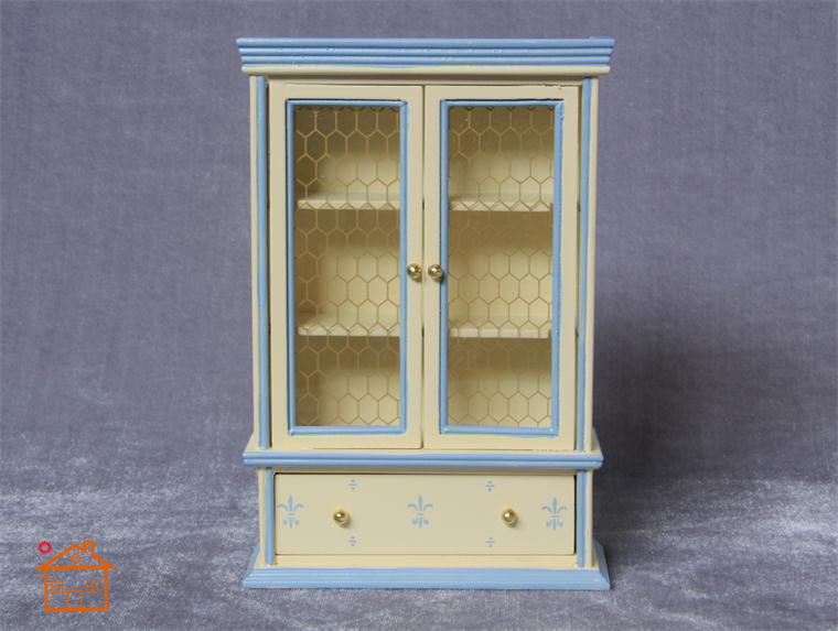 Mini Furniture Carbinet Display Shlef w//Opening Door for 1//12 Dollhouse