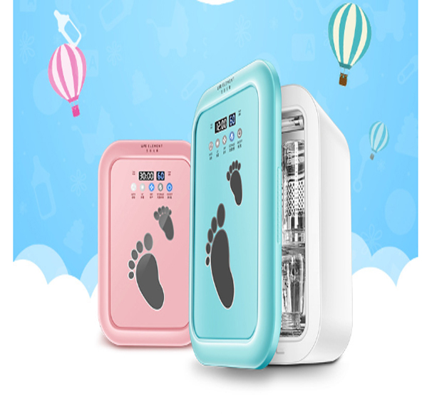 Uv Multi-function Bottle Sterilizer With Baby Bottles Drying Stainless Steel Sterilizing Cooker Cabinet Warm Air Drying