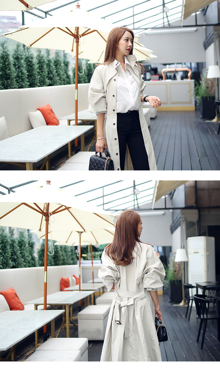 new arrival high quality women fashion comfortable loose a-line trench coat professional temperament outdoor warm long trench 5