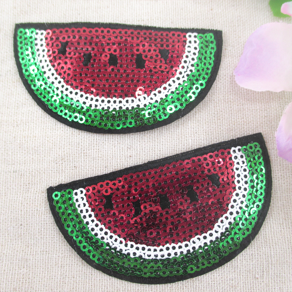 80*40mm Watermelon Sequins Embroidery Patch High Quality 5 ...